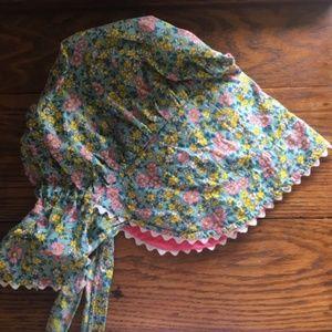 Vintage Handmade Prairie-Style Floral Bonnet